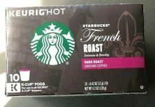 Starbucks French Roast Intense & Smoky Dark Roast Coffee Keurig k-cups
