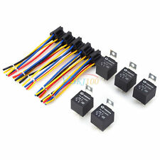5x Car Vehicle 12V 12 Volt DC 40A AMP Relay & Socket Set SPDT 5 Pin 5 Wire New