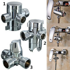 G1/2 Inch Three Way T-adapter Shower Head Diverter Valve