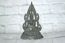"""Rare Old Antique Seated Buddha Sculpture Statue Metal 8.5""""H"""