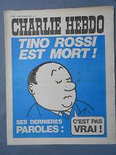 ►CHARLIE HEBDO N°60 - JANVIER 1972 - TINO ROSSI