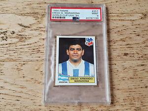 Panini 1994 World Cup USA 94, rare sticker card Diego Maradona #257, PSA 9 MINT