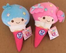 "Sanrio Little Twin Stars Baskin Robbins 8.5"" Stuffed Plush Lot Of 2 *SEE PICS*"
