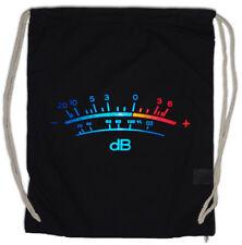 DB Meter II Drawstring Bag Decibel Music Retro Radio Record Vinyl Stereo Music