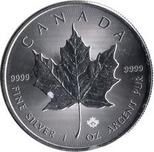 2015 Fine Silver 1oz Maple Leaf Canada $5 Dollar Coin Auction