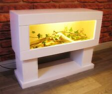 3 ft Modern Reptile Vivarium Tank with Low Display Stand
