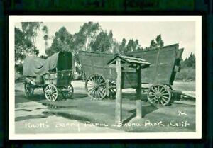 Postcard Knott's Berry Farm Old Wagons Buena Park California #42. KBF