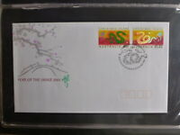 2003 AUSTRALIA YEAR OF THE SNAKE SET OF 2 STAMPS FDC FIRST DAY COVER