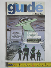 Used Guardian The Guide Magazine-11th January 2003-Loving the Alien cover.