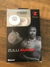 Zulu Audio Wearable Bluetooth Portable Speakers with Locking Magnets - White
