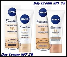 NIVEA BB Day Cream 24H MOISTURE + Radiance with Minerals LIGHT or MEDIUM  50 ml