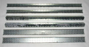 """6x Meccano Type 24½"""" 49 Hole Sections"""