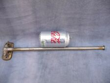 More details for antique chromed brass single swing towel rail holder architectural 1930s/40s