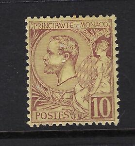 MONACO : 1891 10c brown/yellow SG14 mint