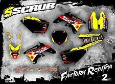 SCRUB Suzuki graphics decals kit RMz 250 2007-2009 stickers motocross '07-'09