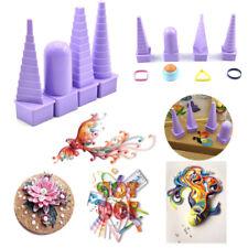 4pcs/set Plastic Purple Paper Quilling Bobbin Tower Art Tool Paper Craft Quilled