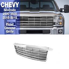 Front Grille Chrome Silver For Chevrolet 2015-2016 Silverado 2500 3500
