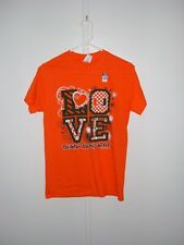 UNIVERSITY OF MIAMI HURRICANES ORANGE LOVE LADIES TEE SHIRT NEW GO CANES