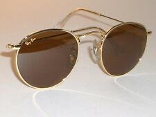 46MM VINTAGE B&L RAY BAN B15 BROWN DRIVING ARISTA ROUND AVIATORS SUNGLASSES NEW