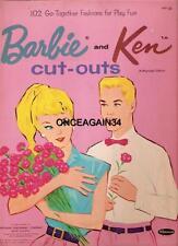 Vintage Uncut 1962 Barbie & Ken Paper Dolls Reproduction W/20 Pages Clothes!