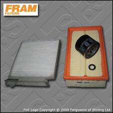 SERVICE KIT RENAULT CLIO MK3 1.2 16V TCE FRAM OIL AIR CABIN FILTER (07-12)