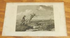 1829 SPORTING MAGAZINE Antique Print/DUCK SHOOTING