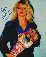 Candi Devine signed 8x10 color wrestling photo AWA Womens champ