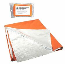 Polarshield Silver & Orange Survival Blanket Great Visibility Reflects Body Heat