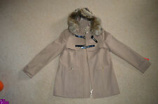 womens ladies jacket,south duffle hooded parka coat,size 10 / SMALL full zip NEW