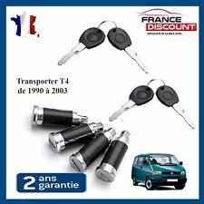 4X Serrure Cylindre Barillet de Porte pour VW Transporter T4 de 1990 à 2003