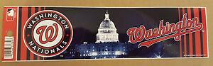 Washington Nationals 2013 Baseball Bumper Sticker RICO Industries USA MLB