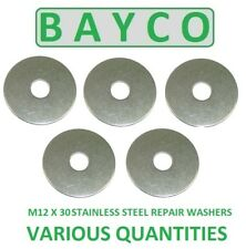 12MM (M12) X 30MM STAINLESS STEEL REPAIR/MUDGUARD WASHER A2 GRADE 304.