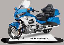 MINIATUR MODELL MOTORRAD in der Uhr, HONDA GOLDWING-01