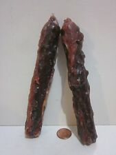"""Country Pair Dark Brown Hazelnut Scented Grubby Candles, Handmade Tapers 5.75"""""""