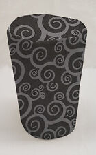 Black & Gray Scroll Damask Can Opener Cover