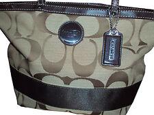 Coach Signature Stripe Tote Handbag Purse F17433 Retails $268 NWT Last One