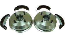 FORD KA 1.3 2000-2007 REAR 2 BRAKE DRUMS AND BRAKE SHOES SET NEW