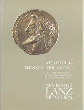 LANZ AUKTION 42 Katalog 1987 Münzen der Antike ~
