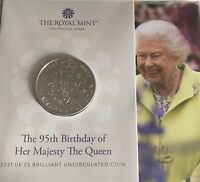 2021 BU £5 Coin 95th Birthday of HRH The Queen Royal Mint Pack Limited Edition