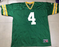 VTG Men's BRETT FAVRE #4 LOGO ATHLETIC Sz 2XL Football Green Bay Packers JERSEY