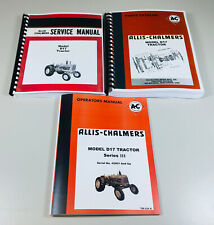 ALLIS CHALMERS D-17 SERIES 3 III TRACTOR SERVICE PARTS OPERATORS MANUAL