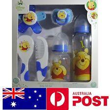 Disney Winnie the Pooh Baby 6 Pcs. Gift Set Feeding Bottle BPA DEHP free Boy 0+