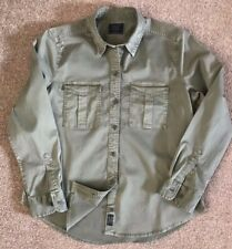 GORGEOUS WOMENS ABERCROMBIE & FITCH MILITARY STYLE STRETCH SHIRT L LARGE