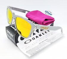 NEW Oakley Frogskins sunglasses Silver Checkbox Fire Iridium 9013-C155 diamond