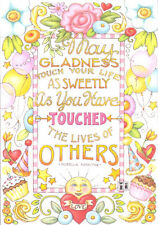 GLADNESS TOUCHES LIVES-Handcrafted Fridge Magnet-W/Mary Engelbreit art