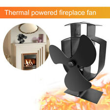 Thermal Powered Fireplace Fan Log Wood Burner Aluminum Oxide Home Air Cooling