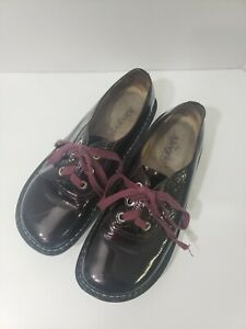 Alegria Abby ABB-112 Burgundy Wine Patent Leather Lace Up 40 9/9.5