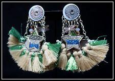 Grandes Boucles d oreilles BIJOUX LOL LOLILOTA etoile clip pompon or vert dore
