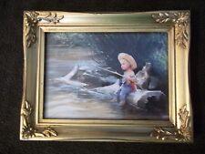 """Donald Zolan """"The Little Fisherman"""" Lithograph  w/COA #B6434  Pemberton&Oakes"""