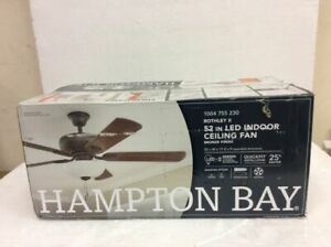 Hampton Bay Rothley II 52 in. Bronze LED Ceiling Fan with Light Kit